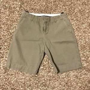 Dark khaki Bermuda shorts